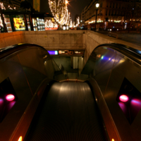 The bad side of an escalator