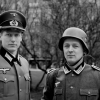 Nazi officer and a foot soldier
